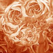 Vintage Rose Petals Abstract  Art Print