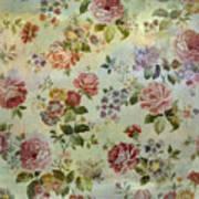 Vintage Rose Wallpaper Poster