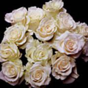 Vintage Roses Bouquet Art Print