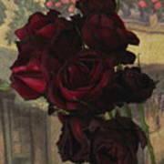 Vintage Roses In Vintage Paris Art Print