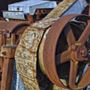 Vintage Rusty Machine Art Print