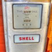 Vintage Shell Gas Pump Art Print