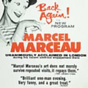 Vintage Show Poster Marcel Marceau Art Print