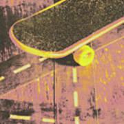 Vintage Skateboard Ruling The Road Art Print