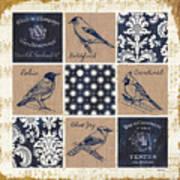 Vintage Songbirds Patch Art Print