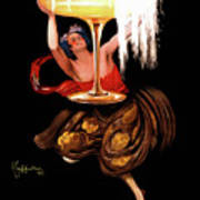 Vintage Sparkling Wine Advertisement Art Print