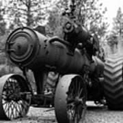 Vintage Steam Tractor Art Print