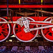 Vintage Steam Train Wheels Art Print