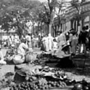 Vintage Street Scene In Ponce - Puerto Rico - C 1899 Art Print