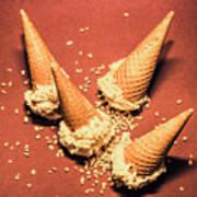 Vintage Summer Ice Cream Spill Art Print