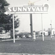 Vintage Sunnyvale Sign Art Print