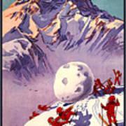 Vintage Swiss Travel Poster Art Print
