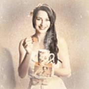 Vintage Tea Advertisement Pin-up Art Print