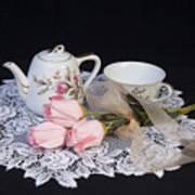 Vintage Tea Set Art Print