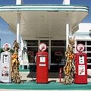 Vintage Texaco Station Art Print