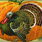 Vintage Thanksgiving Card Art Print