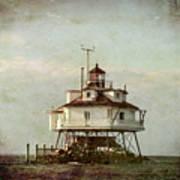 Vintage Thomas Point Shoal Lighthouse Art Print