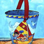 Vintage Tin Sand Bucket Art Print