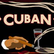 Vintage Tobacco Cuban Cigars Art Print