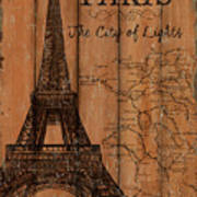 Vintage Travel Paris Art Print