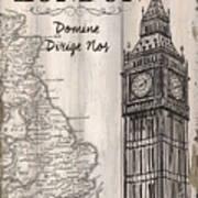 Vintage Travel Poster London Art Print