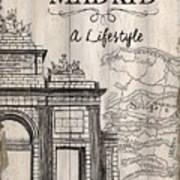 Vintage Travel Poster Madrid Art Print