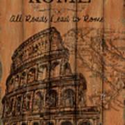 Vintage Travel Rome Art Print