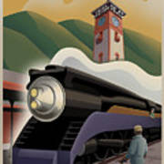 Vintage Union Station Train Poster Print by Mitch Frey
