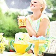 Vintage Val Iced Tea Time Art Print