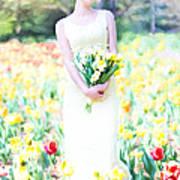 Vintage Val Spring Tulips Art Print