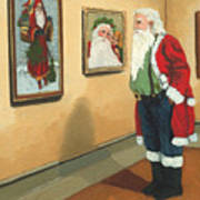 Vintage Victorian - Museum Santa Art Print