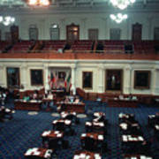 Vintage View Of The Senate Chamber, The Texas Capitol, May 1990 Art Print
