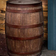 Vintage Wine Barrel Art Print
