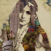 Vintage Woman Built By New York City 1 Art Print