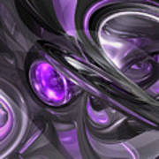 Violaceous Abstract  Art Print