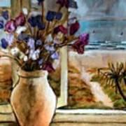 Violet Beach Flowers Art Print