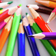 Violet. Colored Pencils Art Print