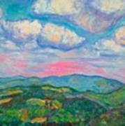 Violet Evening On Rocky Knob Art Print