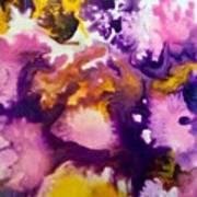 Violet Explosion  Art Print
