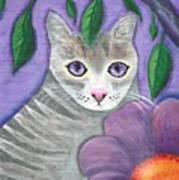 Violet Eyed Cat Art Print