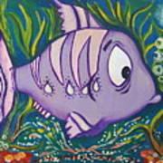 Violet Fish Art Print