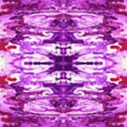 Violet Groove- Art By Linda Woods Art Print