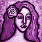 Violet Lady Art Print by Brenda Higginson