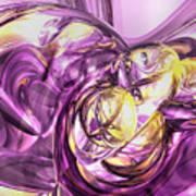 Violet Summer Abstract Art Print