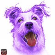 Violet Terrier Mix 2989 - Wb Art Print