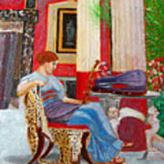 Violin Admirer Art Print