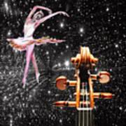 Violin And Ballet Dancer Number 1 Art Print