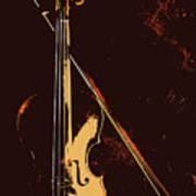 Violin And Bow  Art Print