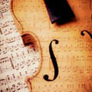 Violin And Musical Notes Art Print