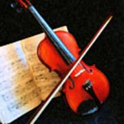 Violin Impression Art Print